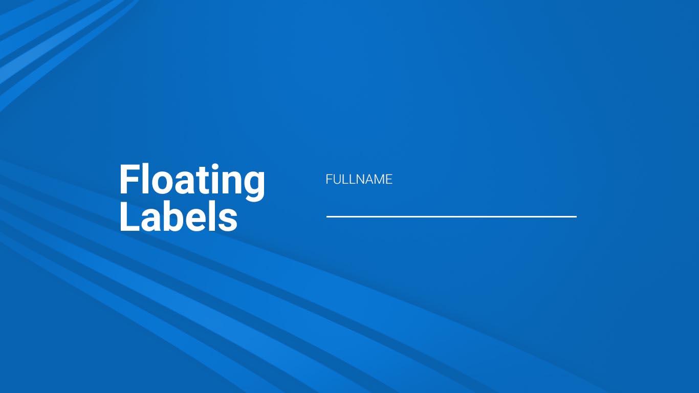Vantagens e desvantagens de labels flutuantes em formulários