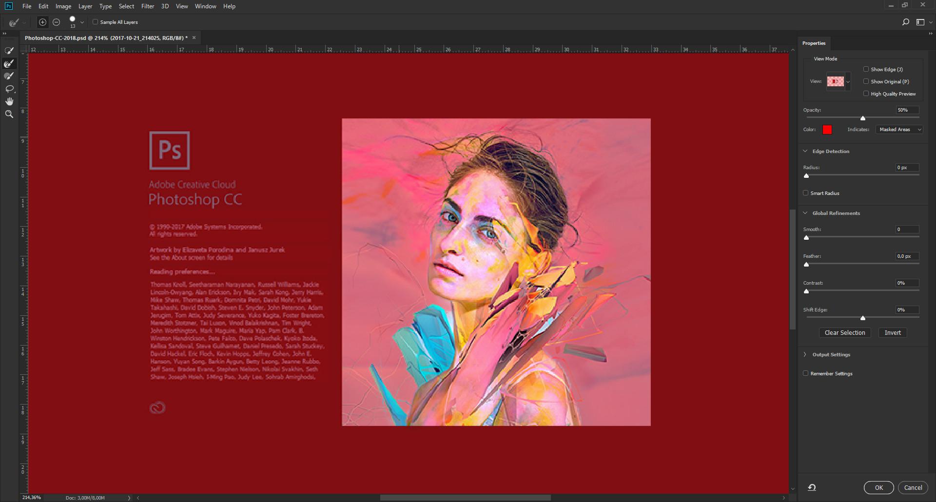 seleção e mascara photoshop cc
