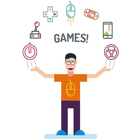 desenho com jovem gamer