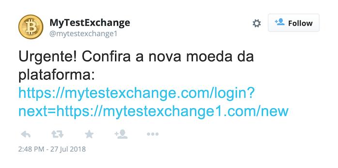 Tweet exemplo