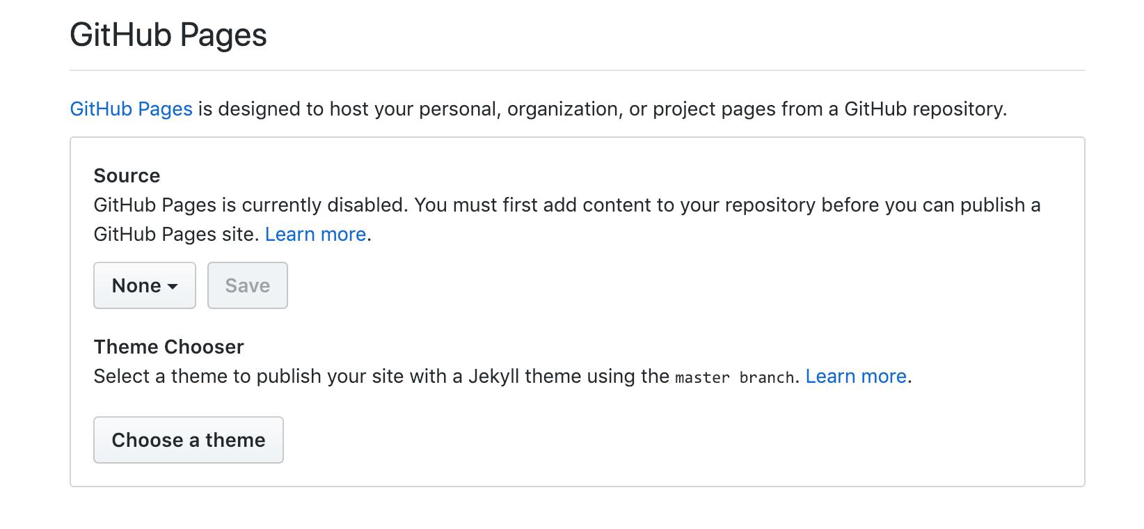 Configuração Github Pages