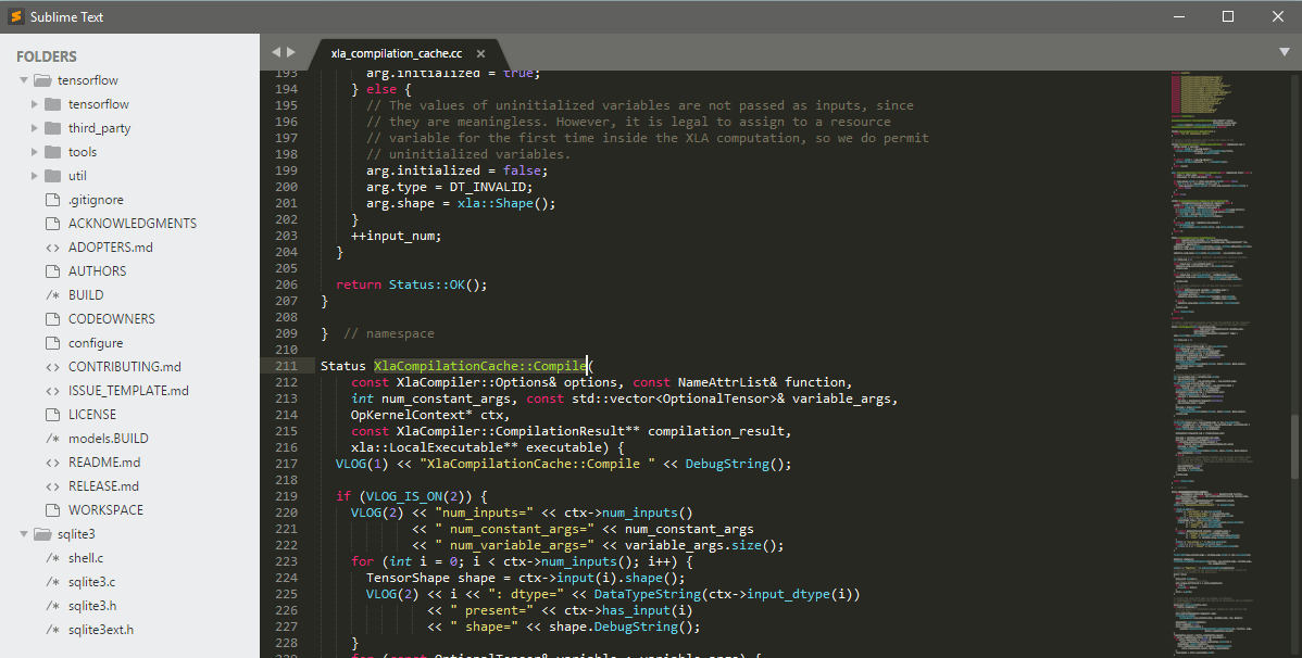 Interface Sublime Text