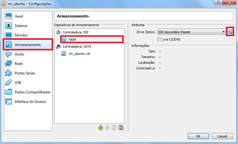Configurações Ubuntu para a VM
