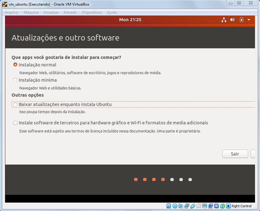 Tipos de instalção do Ubuntu