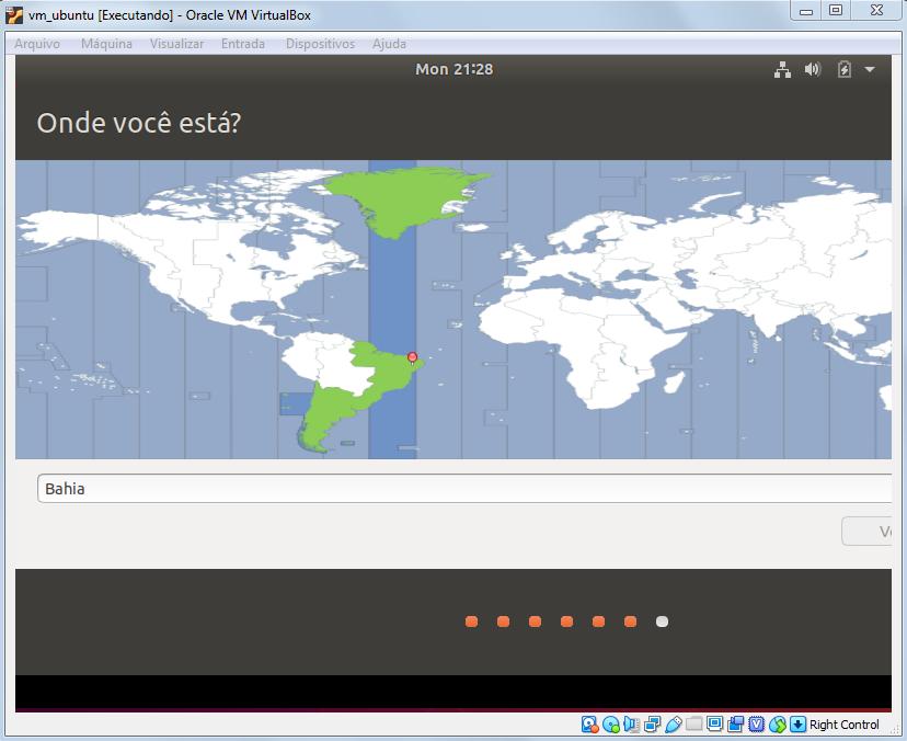 Selecionando localização do usuário