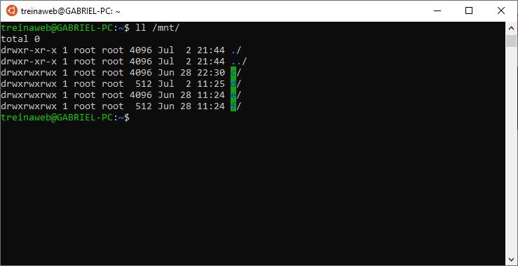 Arquivos do Windows dentro do WSL