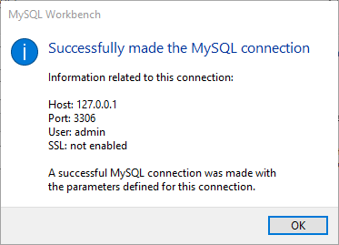 Teste da conexão com o MySQL