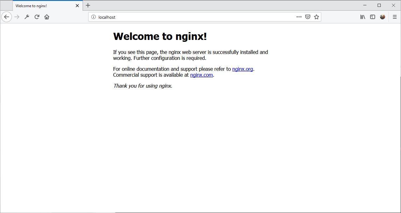 Página inicial do nginx