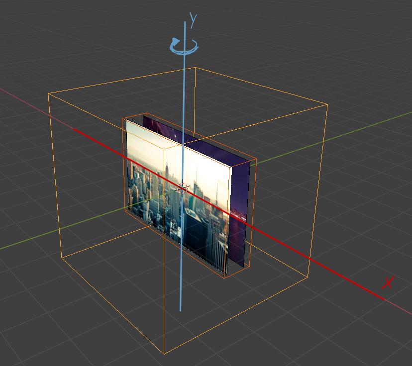 Imagem 3D - eixo de rotação