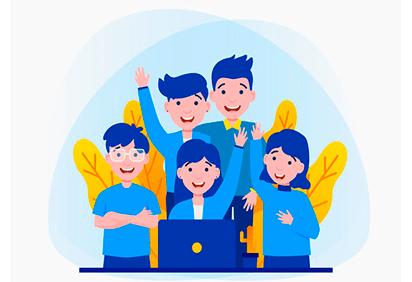 desenho de uma equipe