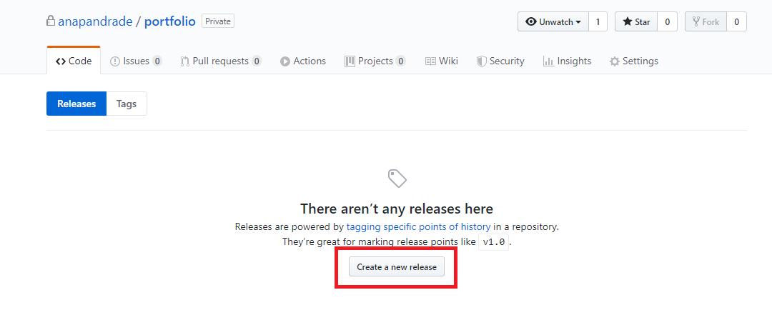 Criando Release no Github
