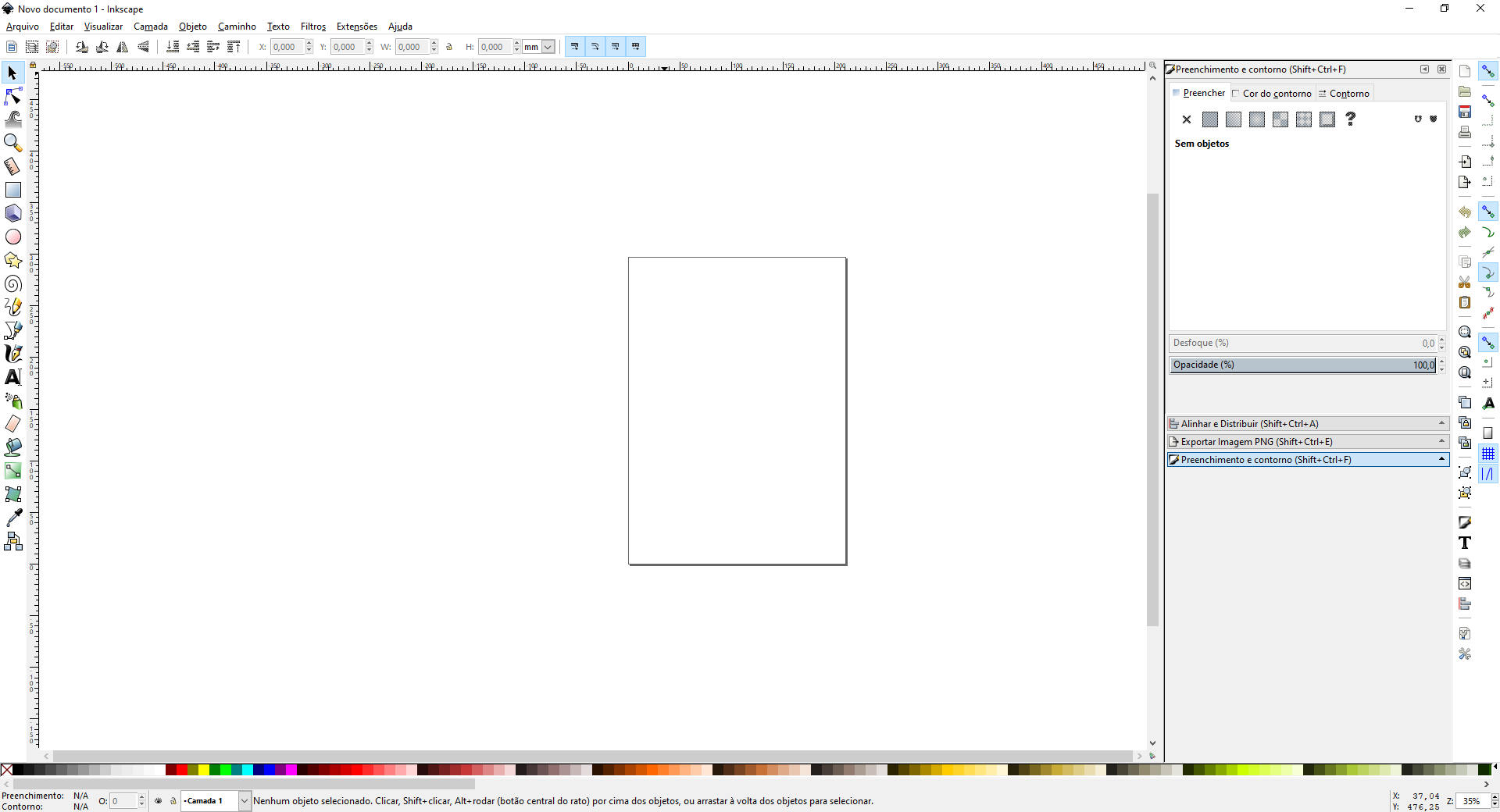 Interface do Inkscape