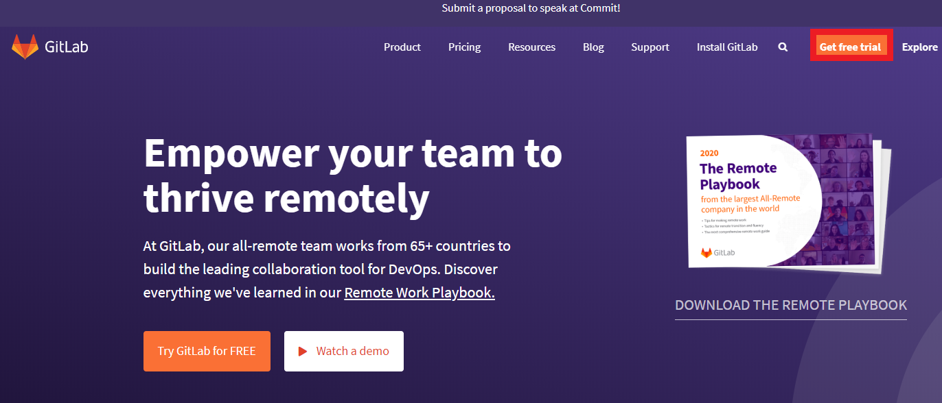 Criando conta no GitLab