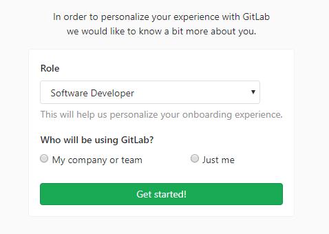 Criando conta do GitLab