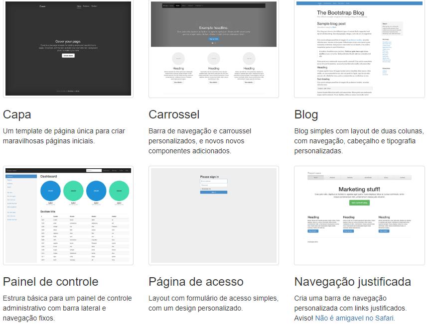 Componentes do Bootstrap