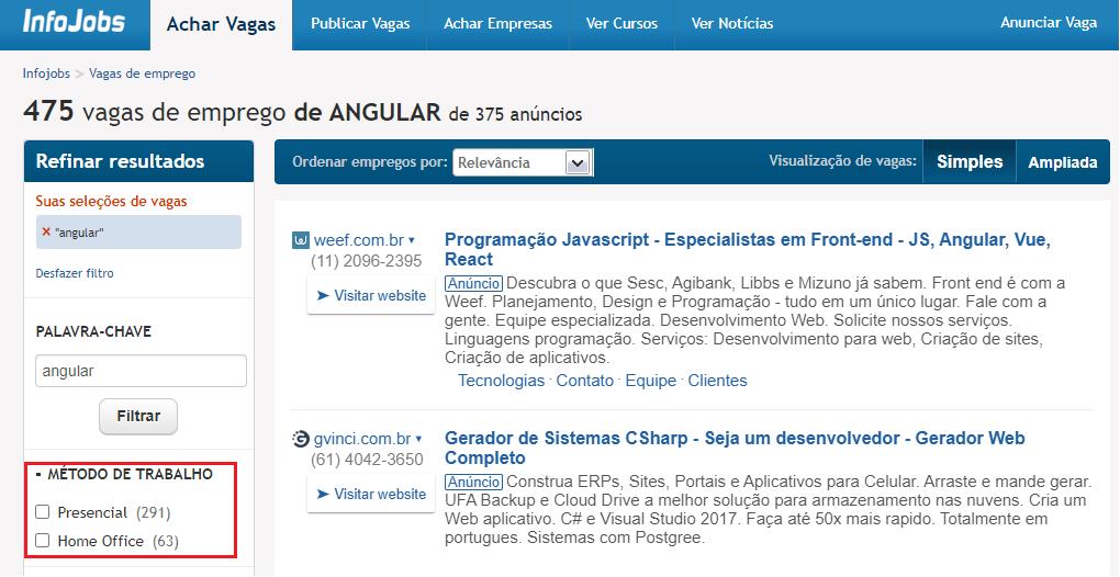 vagas angular InfoJobs