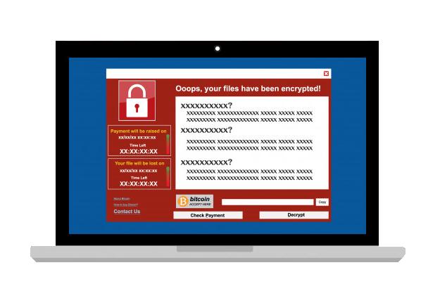 tela de resgate ransomware