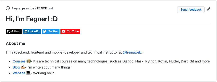 Resultado do README do GitHub