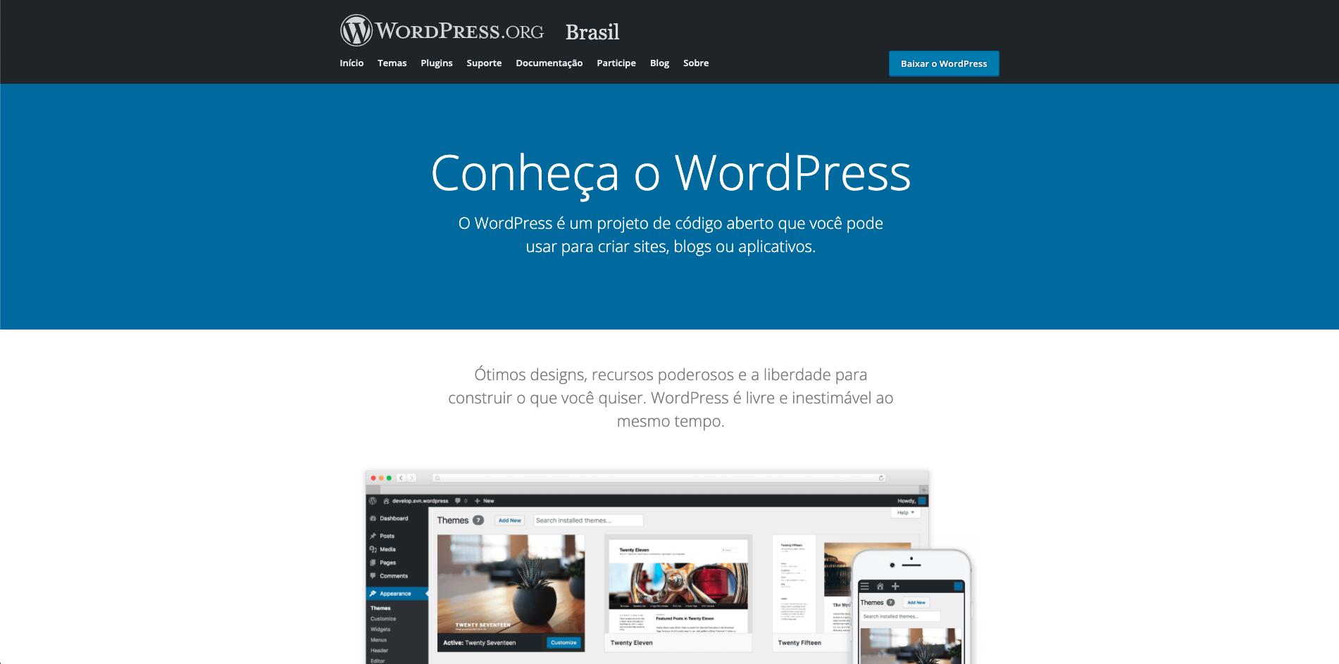 Home do wordpress.org