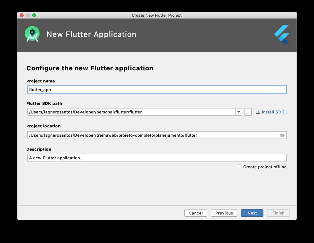 Definindo Configurações da Aplicação Flutter