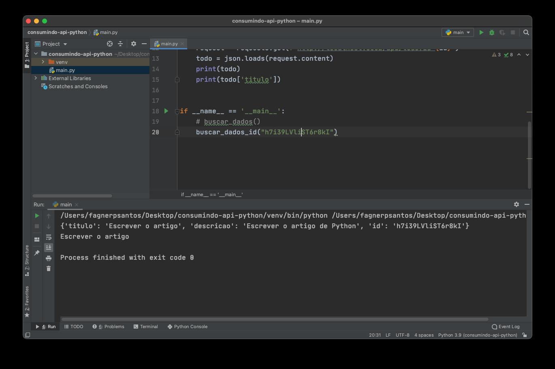 Filtrando dados da API