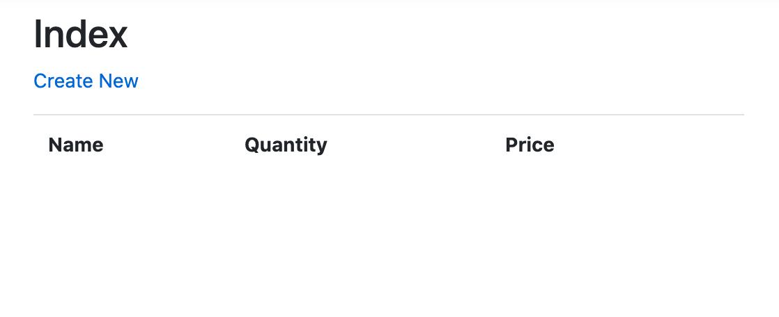 Listagem de produtos com nenhum item