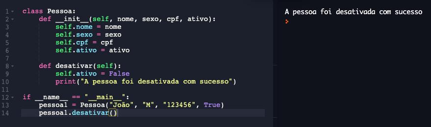 Declarando métodos em Python