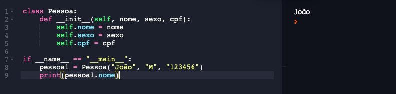 Instanciando objetos em Python