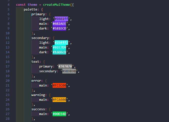 VS Code - Color Highlight